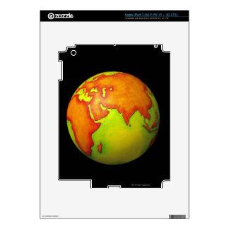 Asia on a Globe iPad 3 Skin