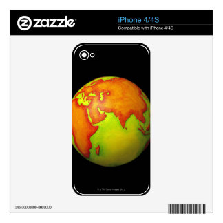 Asia on a Globe iPhone 4S Decals