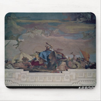 Asia, one of Four Continents from the ceiling Mouse Pad