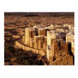 Asia, Oriente Medio, República de Yemen, Shibam Tarjeta Postal