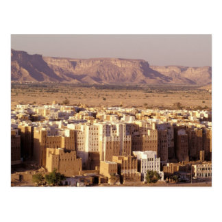 Asia, Oriente Medio, República de Yemen. Shibam Tarjeta Postal