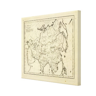 Asia outline map canvas print