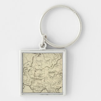 Asia outline map keychain