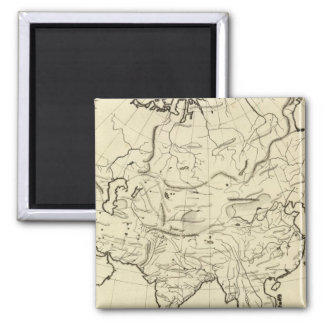 Asia outline map magnet