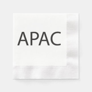 Asia Pacific.ai Coined Cocktail Napkin