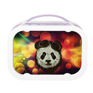 Asia Panda Bear with Bokeh Style Lunch Box