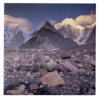 Asia, Paquistán, gama de Karakoram, amplios y Azulejo Cuadrado Grande