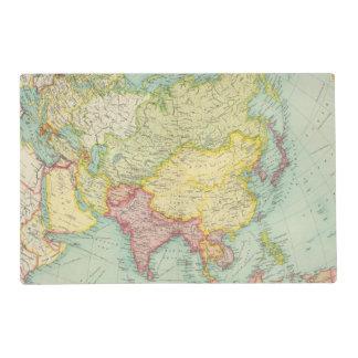 Asia political atlas map placemat