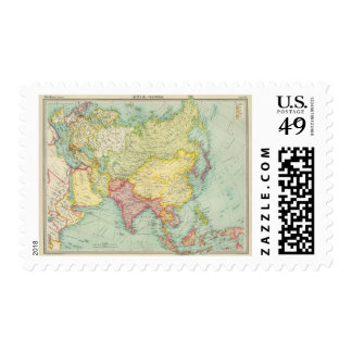 Asia political atlas map postage