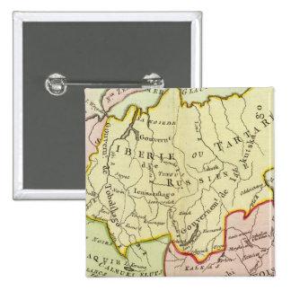 Asia, Rusia, China Pin Cuadrada 5 Cm