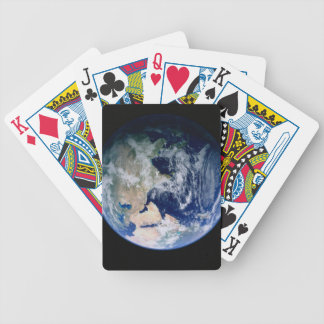 Asia Seen from Space Bicycle Playing Cards