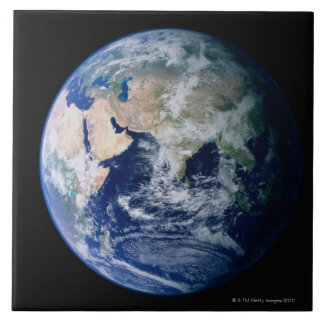 Asia Seen from Space Ceramic Tile