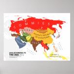 Asia según los E.E.U.U. Poster