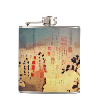 Asia Silhouettes Flask