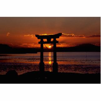 Asia Sunset Standing Photo Sculpture