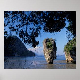 Asia, Tailandia, Ao Phangnga NP, coatline, karst Póster