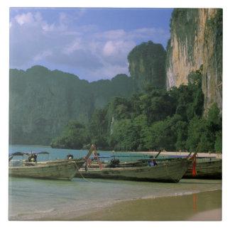 Asia, Tailandia, Krabi. Playa del oeste de Railay, Azulejo Cuadrado Grande