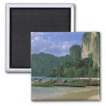 Asia, Tailandia, Krabi. Playa del oeste de Railay, Imán De Nevera