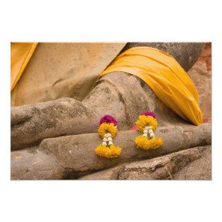 Asia, Tailandia, Tailandia, Buda en Ayutthaya Impresión Fotográfica