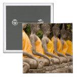 Asia, Tailandia, Tailandia, Buddhas en Ayutthaya Pin Cuadrado