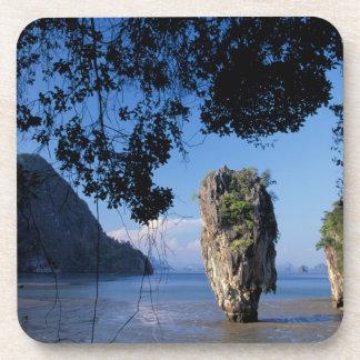 Asia, Thailand, Ao Phangnga NP, coatline, Karst Drink Coaster