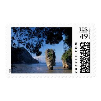 Asia, Thailand, Ao Phangnga NP, coatline, Karst Stamp