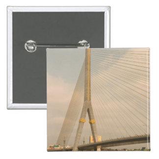 Asia, Thailand, Bangkok, bridge over Chao Pinback Button