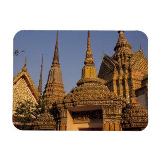 Asia, Thailand, Bangkok, Wat Po, city's oldest Rectangular Photo Magnet