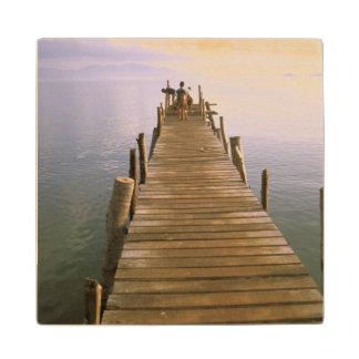 Asia, Thailand, Ko Samui Island. Dock. Wooden Coaster