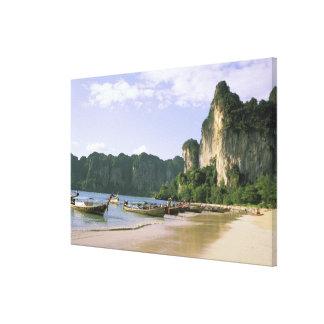 Asia, Thailand, Krabi. West Railay Beach, long Canvas Print