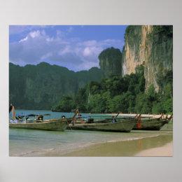 Asia, Thailand, Krabi. West Railay Beach, Poster