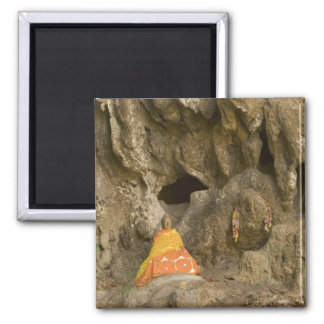 Asia, Thailand, Mae Hong Son, Buddha Images 2 Inch Square Magnet