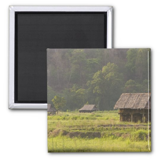 Asia, Thailand, Mae Hong Son, Rice huts in the Magnet