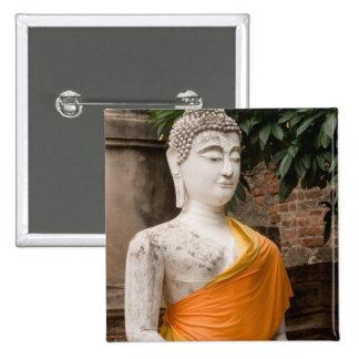 Asia, Thailand, Siam, Buddha at Ayutthaya Pinback Button