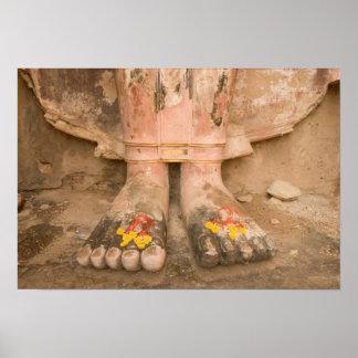 Asia Thailand, Sukhothai, Buddha's feet and Poster
