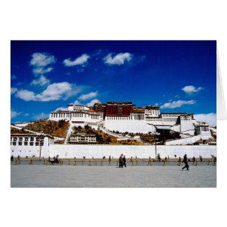 Asia, Tíbet, Lasa, el palacio Potala. UNECSO Tarjeta De Felicitación