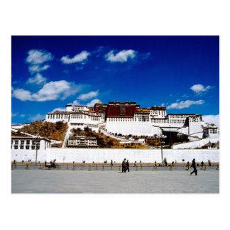 Asia, Tíbet, Lasa, el palacio Potala. UNECSO Tarjeta Postal