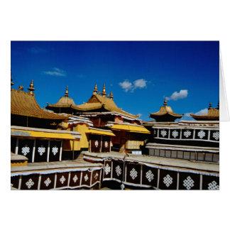 Asia, Tíbet, Lasa, rojo del palacio Potala aka Tarjeta De Felicitación