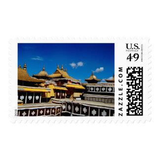 Asia, Tíbet, Lasa, rojo del palacio Potala aka Timbres Postales