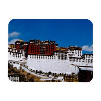 Asia, Tibet, Lhasa, Potala Palace aka Red 2 Vinyl Magnet