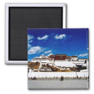 Asia, Tibet, Lhasa, Potala Palace. UNECSO 2 Inch Square Magnet