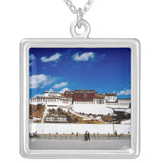 Asia, Tibet, Lhasa, Potala Palace. UNECSO Silver Plated Necklace