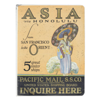 Asia via Honolulu from San Francisco to the Orient Extra Large Moleskine Notebook