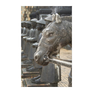 Asia, Vietnam. Figurines and horse statues Canvas Print