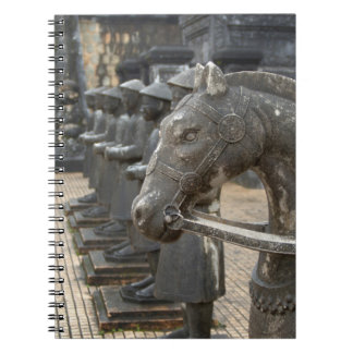 Asia, Vietnam. Figurines and horse statues Notebook