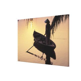 Asia, Vietnam, Mekong Delta, Can Tho. Evening Canvas Print
