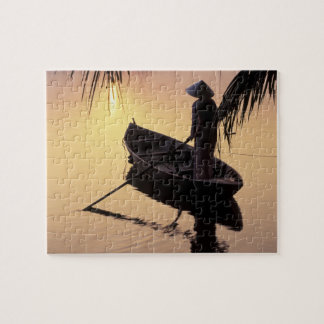 Asia, Vietnam, Mekong Delta, Can Tho. Evening Jigsaw Puzzle