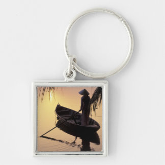 Asia, Vietnam, Mekong Delta, Can Tho. Evening Keychain