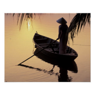 Asia, Vietnam, Mekong Delta, Can Tho. Evening Poster