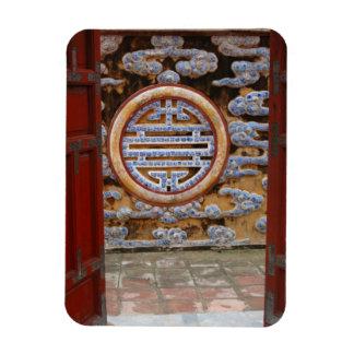 Asia, Vietnam. Ornate wall at the Citadel Rectangular Photo Magnet